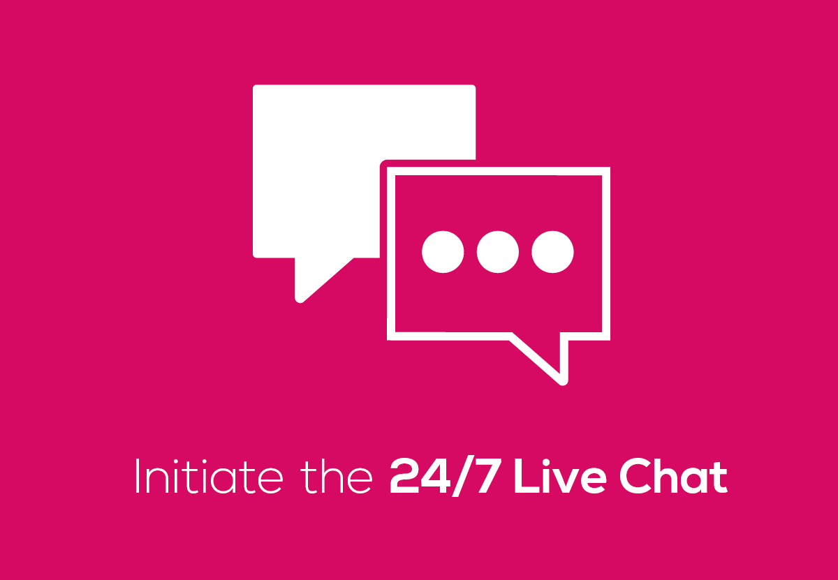 Initiate the 24/7 Live Chat